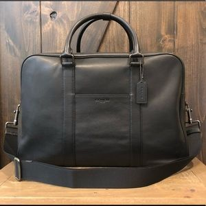 NWT Authentic Coach Leather Overnight Travel Bag
